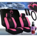 Deluxe Heart Pink Car Accessory ...