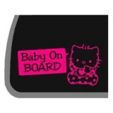 "Hello Kitty ""Baby on Board"" Decal"