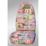 Hawaiian Print Front Seat Covers