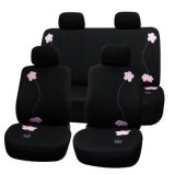 Black and Pink Floral Seat Covers