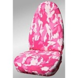 Pink Camouflage Print Front Seat Covers
