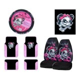 Complete Lady Skull Auto Interior Set (7 pcs.)